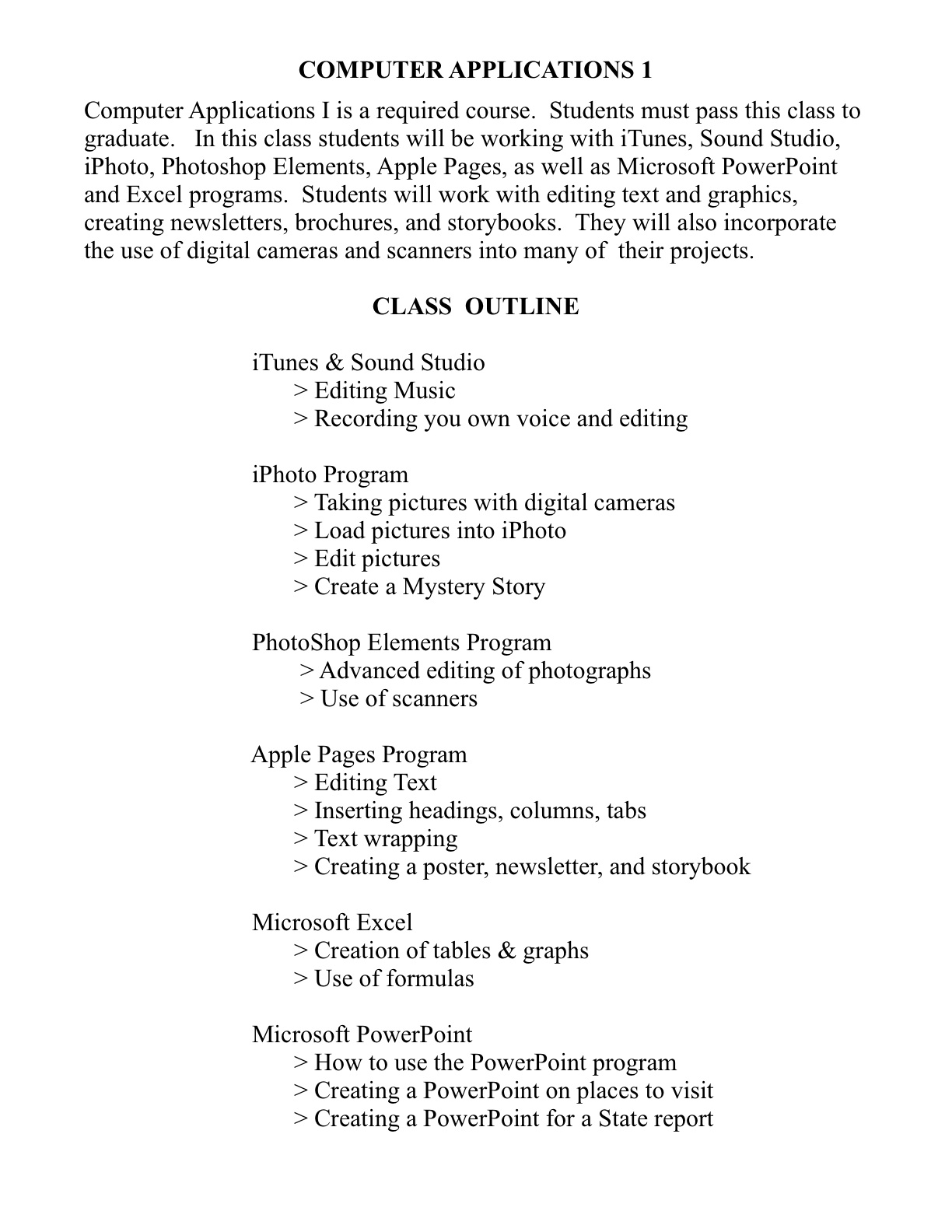 course outline for comp 314 Computer science 314: computer organization study guide: table of contents: unit 1: overview : section 1: introduction :  course sample index .
