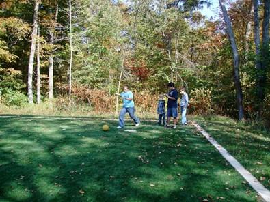Kickball at Chenoweth Trails