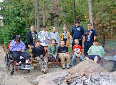 Tri-Village and Mississinawa Valley students at Chenoweth Trails