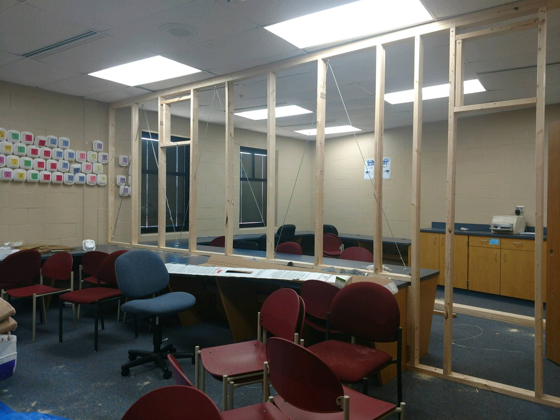 Partitions starting to take place.